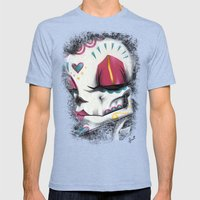Madame Muerte PAINT Mens Fitted Tee Tri-Blue SMALL