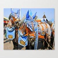Haufbraugh Horses Canvas Print