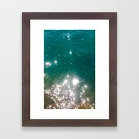 The Color Of The Sea Framed Art Print