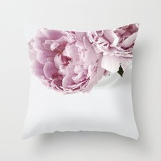 Two Peonies Throw Pillow