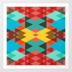 Geometric Crazy 3D Art Print