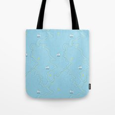 Sailing for the treasure Tote Bag