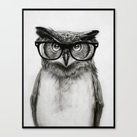 Mr. Owl Canvas Print