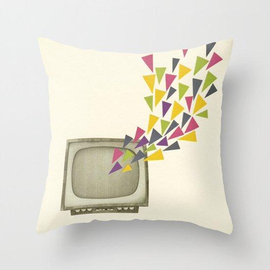 Transmission Throw Pillow