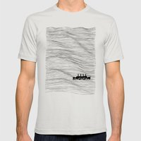 Lost at Sea Mens Fitted Tee Silver SMALL
