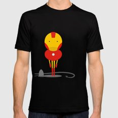 My ironing Hero! Mens Fitted Tee SMALL Black
