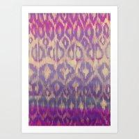 Ikat2 Art Print