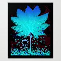 Raining Leaves Art Print
