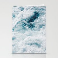 sea - midnight blue storm Stationery Cards