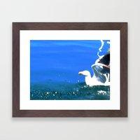 SeaSkull Framed Art Print