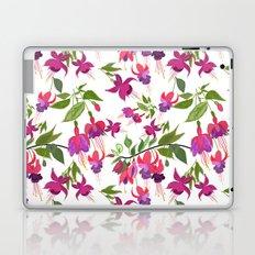 April blooms IV - Fuchsia White Laptop & iPad Skin