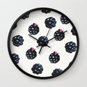 Blackberries pattern Wall Clock