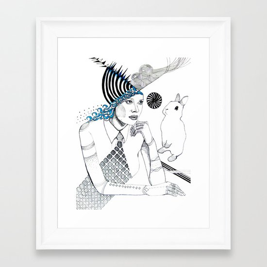Mysterious Spin Framed Art Print