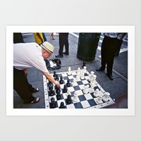 Giant Chess Game Art Print