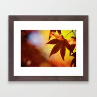 Autumn Kaleidoscope Framed Art Print