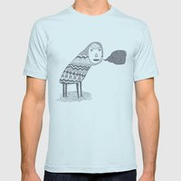 (A Wuggie) Mens Fitted Tee Light Blue SMALL
