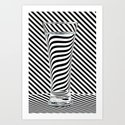 Striped Water Art Print