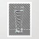 Striped Water Art Print