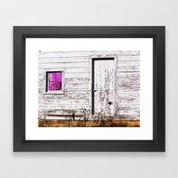 Siler City Barn with Zinnia  Framed Art Print