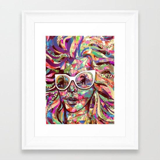 Sun Glasses In a Summer Sun Framed Art Print