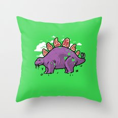 Steakosaurus Throw Pillow