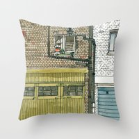 MEWS 4 Throw Pillow