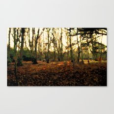 Autumn In The Forest - Painting Style Canvas Print
