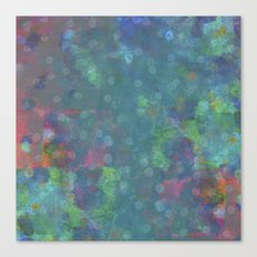 Blue and green abstract painting Canvas Print