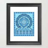 Eternal Blue Wheel Framed Art Print