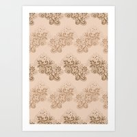 Brown Lace Art Print