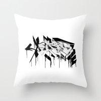 graffiti - AR3 Throw Pillow
