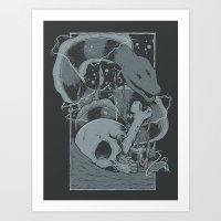 Eelectric Art Print