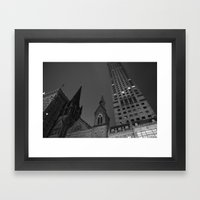 Newsprint Up  Framed Art Print