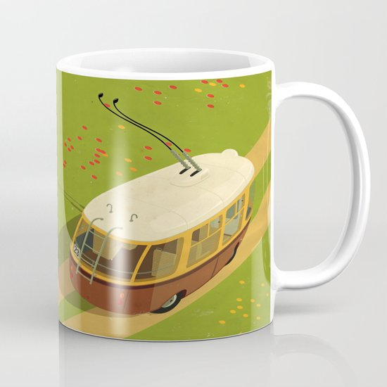 Trolley Rides The Field Mug