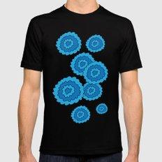 blue hydrangeas Black SMALL Mens Fitted Tee