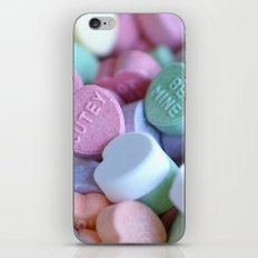 Candy Hearts iPhone & iPod Skin