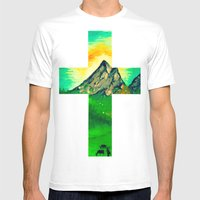 Through His Eyes Mens Fitted Tee White SMALL