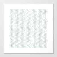 #402 Shoal X-ray – Geo… Canvas Print