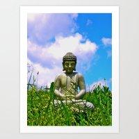 Buddha Takes The Field Art Print