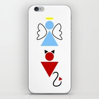 Dengel (Angel + Devil) iPhone & iPod Skin