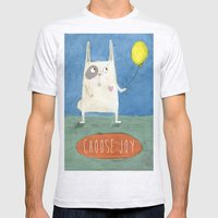Choose Joy Mens Fitted Tee Ash Grey SMALL