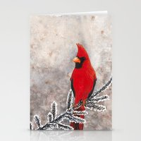 The Red Cardinal In Wint… Stationery Cards