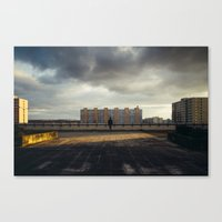 Man in City Canvas Print