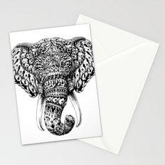 Ornate Elephant Head Stationery Cards