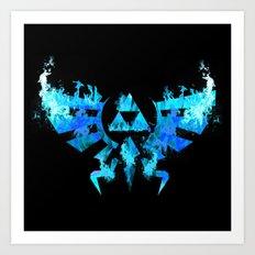 Zelda in Blue Fire Art Print