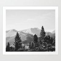 camping in the rockies .  Art Print