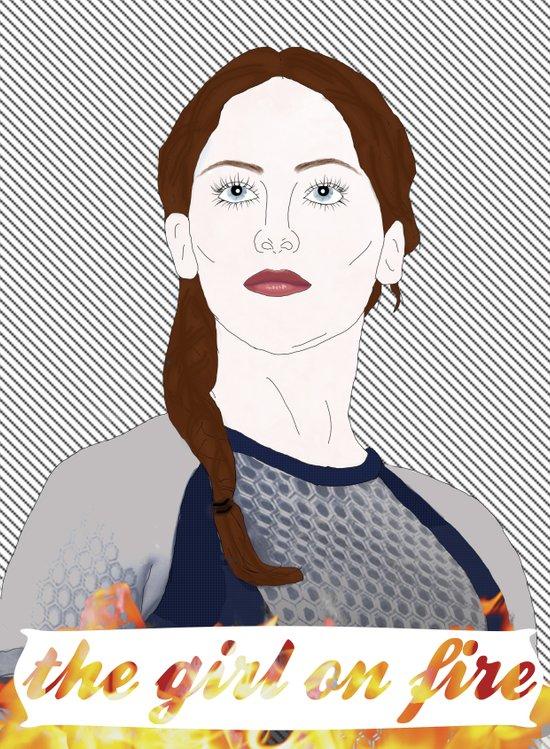 Katniss Everdeen Art Print