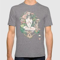 wonderlust Mens Fitted Tee Tri-Grey SMALL