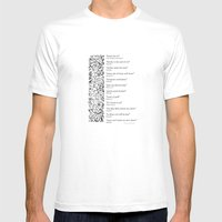 Words Words Words - William Shakespeare Quotations print Mens Fitted Tee White SMALL