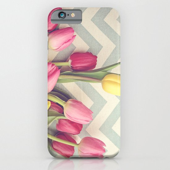 Tulips and Chevrons iPhone & iPod Case